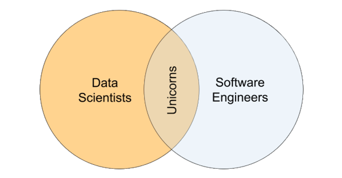Most data scientists are not software engineers, and most software engineers are not data scientists.